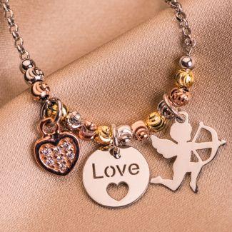 Bratara argint Love charm