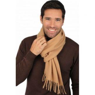 Cashmere foulard Camel