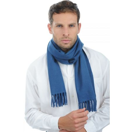 Cashmere foulard Prussian Blue