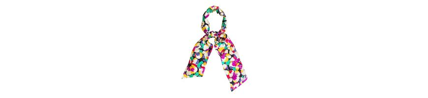 Printed silk accessories colorful