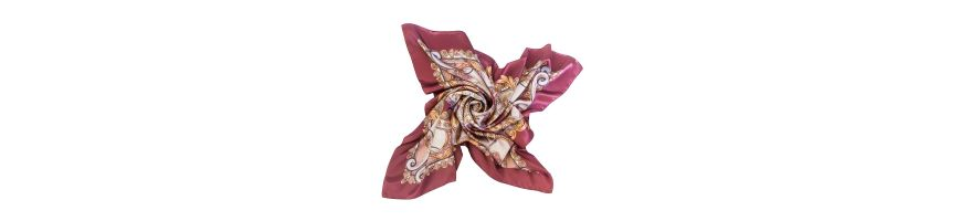 Silk scarves with patterns of Baroque